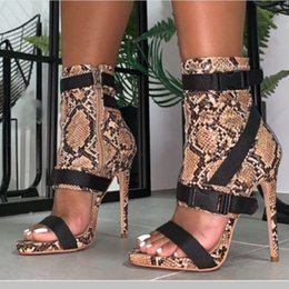 rubber cover boot shoes Australia - Summer women high heels gladiator sandals sexy serpentine buckle strap sandals boots roman stiletto platform ladies party shoes