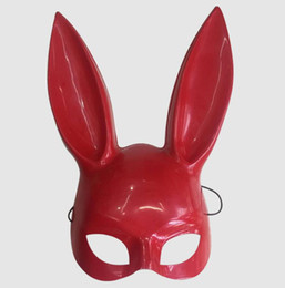hot bar Australia - Hot Sale Creative Christmas Mask Bar Ktv Nightclub Halloween Masquerade Bunny Ear Mask Bunny Mask Halloween Creative Cosplay