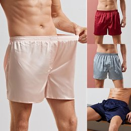 Cheap Price Heflashor 2019 Men Sexy Faux Silk Sleepwear Elastic Waist Summer Sleeping Shorts Home Pajama Short Pants Casual Loose Sleepwear Sleep Bottoms