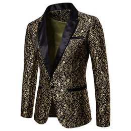 ElEgant whitE blazErs online shopping - Designer Slim Fit Blazer Autumn Winter Mens Floral Blazers Floral Prom Dress Blazers Elegant Wedding Blazer and Suit Jacket