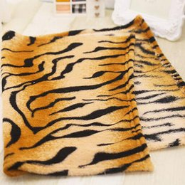 tiger beds Australia - Super Soft Flannel Pet Dog Blanket Cute Tiger Striped Pet Bed Mat Dog Cat Air Condition Cover Blanket For Small and Medium Dogs