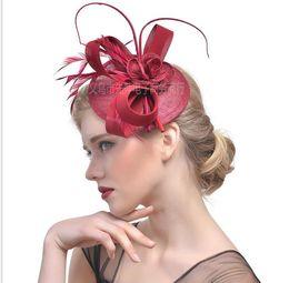 $enCountryForm.capitalKeyWord Australia - Bride Headwear Feather Hat Jewelry Racing Festival Hemp Yarn Headwear Hair Jewelry