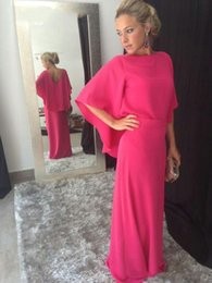 evening dress fuchsia Canada - Fuchsia Chiffon Long Mother of the Bride Dresses 2020 vestido de madrinha farsali Weddding Party Gowns Plus Size Evening Dress