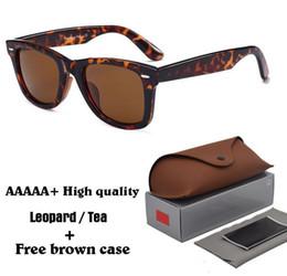 $enCountryForm.capitalKeyWord NZ - High Quality Metal Hinge RAY Sunglasses men Women Brand Designer UV400 glass lens Plank frame Sun glasses With brown case and Box