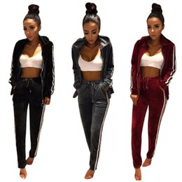 Femmes Costume femmes Vêtements de sport Printemps et Automne Nouveau Casual Mode Costume femmes piste Sets Costumes XXL or velours Womes Survêtement Set Ladies
