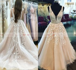 Custom elegant pageant sashes online shopping - 2019 Elegant V Neck Appliques Tulle Long Evening Dresses With Crystals Sash Formal Party Gowns Low Back Prom Dress Pageant Celebrity Gowns