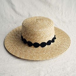 d9a4a1a6 Boater Hats Australia - Sun Hat for Women Wide Brim Straw Boater Hat  Elegant Black White