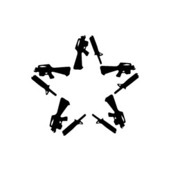 gun stickers UK - Anti Guns Flag Star Car Window Vinyl Decal Sticker Handsome And Cool Stickers Fashion Personality