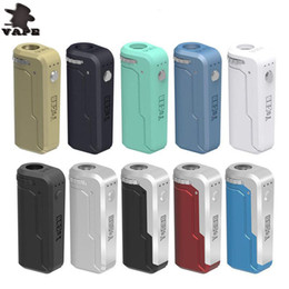 Vape mods for free online shopping - 100 Authentic Yocan UNI Box Mod mAh Preheat VV Battery For Thread Thick Oil Cartridge Electronic Cigarette Vape Mod DHL free