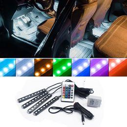 Bmw M3 Lights Australia - RGB LED Strip Light Car Interior Decorative Atmosphere Lamps For BMW M3 Honda Accord Audi A4 Volkswagen Golf 4 5 Chevrolet Cruze