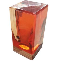 $enCountryForm.capitalKeyWord NZ - resin wood lamp flowing water luce novelty light wooden interior decor unique orange gem lighting new 2019 design art epoxy gift home