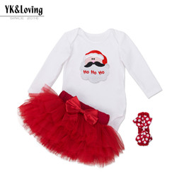$enCountryForm.capitalKeyWord Australia - 2018 New Kids'Dress Christmas Girl Baby High Quality Cotton Fashion Long Sleeve Hammer Six-Layer Skirt Suit 0-2 Years Old
