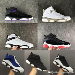 cheap girl rings NZ - Cheap Womens Retro aj 6s rings basketball shoes for sale French Blue Gold Black Boys Girls Boys Kids Jumpman VI Pro sneakers tennis with box