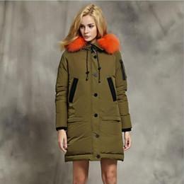 Jackets Big Collars Pattern Australia - Winter new fashion brand 90% white down jacket female big natural fur collar hooded thicker warm down coat wq436