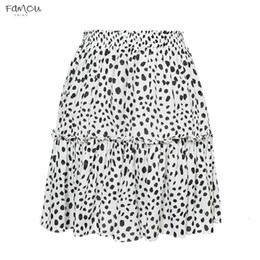 Sexy girlS high waiSt ShortS online shopping - Sollinarry Red Ruffles Leopard Summer Skirts Women New Skirts Boho Mini A Line Sexy Casual A Line High Waist Girls Short Skirts