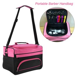 Makeup carry case online shopping - Portable Salon Barber Handbag Hairdressing Comb Tools Bag Makeup Storage Bag Travel Hairstyling Carry Case Styling Accessories