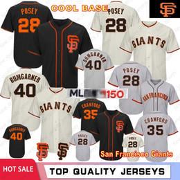 6ab35bcfc 28 Posey San Francisco 150th Anniversary Baseball Jerseys Giants 35 Brandon  Crawford 40 Madison Bumgarner 22 Will Clark In Stock