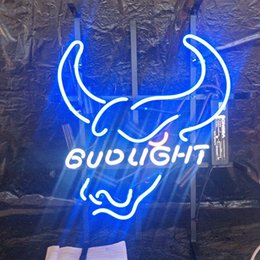 bud light beer neon sign Australia - Factory Bar BUD LIGHT Neon Sign Light Custom Outdoor Display Entertainment Decoration Beer Neon Lamp Light Metal Frame 17'' 20'' 24'' 30''