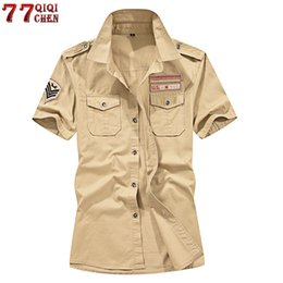 $enCountryForm.capitalKeyWord UK - Brand New 100% Cotton Military Cargo Short Sleeve Plus Size 4xl 5xl Summer Army Tactical Men Shirt Chemise Homme C19041701