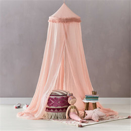 Mosquito Nets For Baby Beds Australia - Round Baby Mosquito Net Toddler Bed Crib Canopy Netting For Summer Baby Room Decor