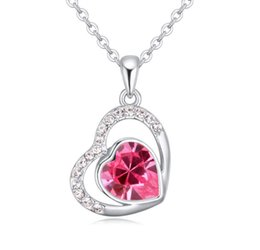 korea necklaces Australia - 2019 New pattern Boutique jewelry swarovski elements Crystal Necklace for woman Korea Austria Pendant Fire of the heart fashion Accessories