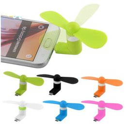 $enCountryForm.capitalKeyWord Australia - 2 in 1 Portable Micro USB Fan Cooler Cooling Pocket Fan For iPhone Android Cellphone Power Bank PC Laptop Accessories With Package