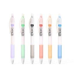 36 teile / los 6 farbe gelstift Schnell trocknen Glattes schreiben 0,5mm roller kugelschreiber Liner Marker Schreibwaren