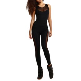Jumpsuit Sportswear Australia - Fitness Women Tracksuit Yoga Set Sexy Backless Sport Suit Gym Running Set Sportswear Leggings Tight Workout Jumpsuits S-xl Y190508