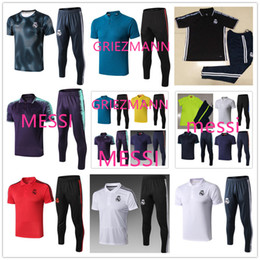 football suits 2019 - 19 new psg real madrid MESSI GRIEZMANN soccer polo tracksuit football Survetement training suit 19 20 football Polo chea