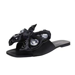 $enCountryForm.capitalKeyWord Australia - Brand Designer Big Bow Tie Slippers Women Summer Pink Slippers Flats Slides Flip Flops Female Ladies Gladiator Sandals