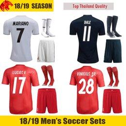 real uniform 2019 - 18 19 Real Madrid Football Uniforms BENZEMA 2018 2019 BALE MODRIC MARIANO Soccer Sets LUCAS V. VINICIUS JR. Football Kit