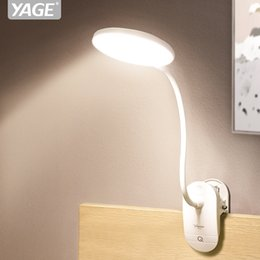 $enCountryForm.capitalKeyWord Australia - YAGE LED Touch On off Switch 3 Modes Clip Desk Lamp 7000K Eye Protection Dimmer 18650 Rechargeable USB flexible Led Table Lamp