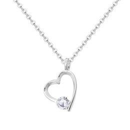 Wholesale Slides Pendants NZ - 925 Sterling Silver Heart Necklace Women Slides Shining Cubic Zirconia Pendant Necklaces Designer Love Necklace Snap Jewelry