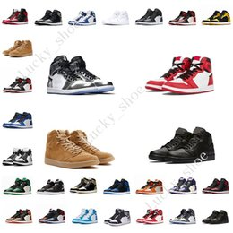 $enCountryForm.capitalKeyWord Canada - New 1 top 3 Mens Basketball Shoes Chicago Bred Banned Black Toe UNC Royal Blue Fragment Pine Green 1s men sports sneakers designer trainers