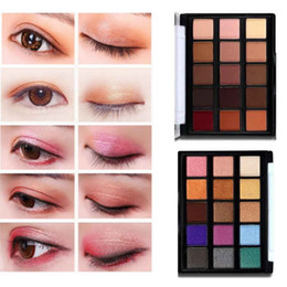 matte 15 eye shadow palette Australia - Popfeel 15-Color Matte Shimmer Glitter Eyeshadow Palette Makeup Waterproof Long Lasting Shimmer Metallic Eye Shadow Natural Nude 5 sets lot