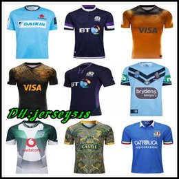 Chinese  2018 2019 20 Scotland rugby Jerseys NRL Rugby Blues State rugby shirt Bulls JAGUARES Italy South Africa St George Illawarra Dragons jersey manufacturers