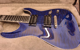 seymour duncan guitar Australia - NEW Custom Horizon NT II Guitar neck Thru Body Standard Quilt Blue Seymour Duncan pickups Maple Top rosewood fretboard electric guitars