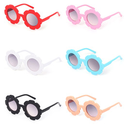 kids fashion sunglasses wholesale Australia - Hot Sale Kids Sunglasses Cute Flower Frame Round Fashion UV400 Summer Protector