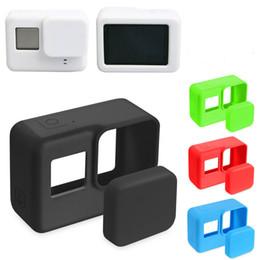 $enCountryForm.capitalKeyWord Australia - SZAICHGSI Go Pro Accessories Action Camera Case Protective Silicone Case Skin +Lens Cap cover for GoPro Hero 5 Black Hero 6 Camera Mount