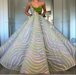 $enCountryForm.capitalKeyWord Australia - Evening dress Yousef aljasmi Labourjoisie Zuhair murad James_paul Ball Gown One-Shoulder Sleeveless Organza Sash Sequins Butter