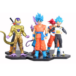 $enCountryForm.capitalKeyWord Australia - action figure 6 pcs Anime action figure Dragon ball Beerus Super Saiyan blue Goku Buu Vegeta Trunks doll Puppet kids toys Car