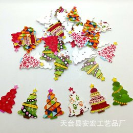 Hearty 50pcs Christmas Holiday Wooden Collection Snowflakes Buttons Snowflakes Embellishments 18mm Creative Decoration Home & Garden