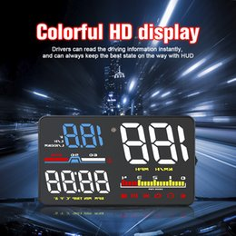 Chinese  High quality D5000 Car HUD Head-up Display 5 Inch OBD2 Overspeed Warning System Projector Vehicle MPH KM h Speed Warn Super Britness manufacturers