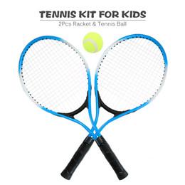 50584b72f 2 Pcs Crianças Esportes Ao Ar Livre Raquete De Tênis De Raquete De Tênis De  Raquetes com 1 Bola e Capa Bag Kit de Treinamento Bom para o Miúdo