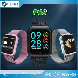 Metal Sleep Australia - P68 Bluetooth Smart Bracelet Smart Watch band IP68 Wristband Fitness Supports Dynamic Heart Rate Blood Pressure Monitor Metal Strap MQ05