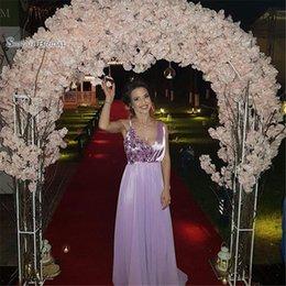 $enCountryForm.capitalKeyWord Australia - V-neck Chiffon Sleeveless Appliques Prom Dresses Vestidos De Festa In Stock Hot Sales High-end Occasion Dress