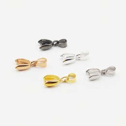 Pinch Bail Connectors Australia - 5 Colors 10pcs pack Pendant Clip Clasp Pinch Clip Bail Pendant Connectors Bail Beads Jewelry Findings DIY Jewelry Accessories