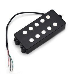 music bass guitar Canada - Open Bass Guitar Pickup 5 String Double Coil Humbucker Pickup Ceramic Magnet 62MM for Music Man Style Bass Guitar Accessories