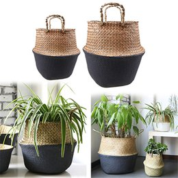 $enCountryForm.capitalKeyWord NZ - Foldable Handmade Storage Baskets Seagrass Wicker Plant Pot Planter Vase Hanging Rattan Planter Vase Flowerpot Home Decorative 057