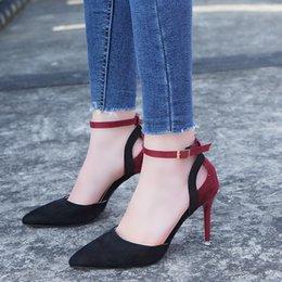Halloween Heels Australia - Dress Shoes Sandals Female Summer 2019 New Korean High Heel Baotou With Fashion Casual Tide.